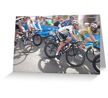 Mark Cavendish at Tour of Britain, London 2011 Greeting Card