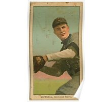 Benjamin K Edwards Collection Orval Overall Chicago Cubs baseball card portrait 003 Poster