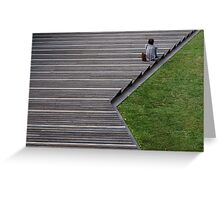Sitting on the Steps Greeting Card
