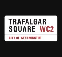 Trafalgar Square, London Street Sign, UK One Piece - Long Sleeve