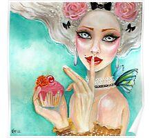 marie antoinette cupcake queen Poster
