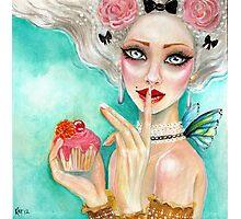 marie antoinette cupcake queen Photographic Print