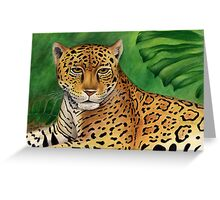 Jaguar (Panthera onca) Greeting Card