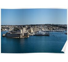 Postcard from Malta - Grand Harbour Superyachts Poster