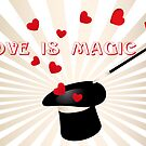 Love is magic - Valentine's Day card by schtroumpf2510