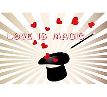 Love is magic - Valentine's Day card Photographic Print