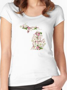 Michigan Flowers Women's Fitted Scoop T-Shirt