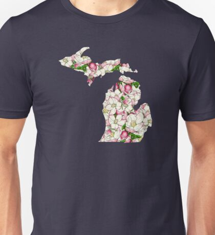 Michigan Flowers Unisex T-Shirt