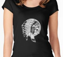 The CHEROKEE indians art Women's Fitted Scoop T-Shirt
