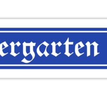Biergarten Sign, Bayern, Germany Sticker