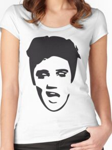 elvis t-shirt Women's Fitted Scoop T-Shirt