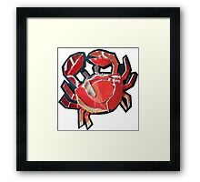 tiny crab Framed Print