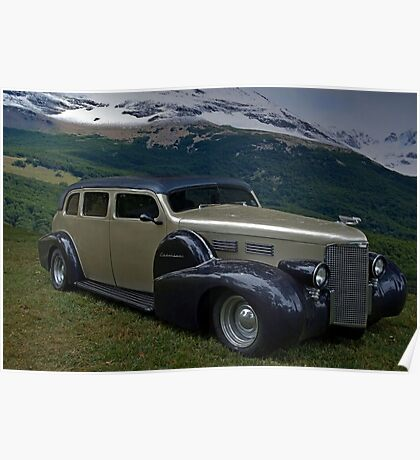 1938 Cadillac Limo Custom Hot Rod Poster