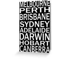 AUSSIE STATE CAPITALS Greeting Card