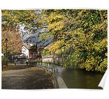 BY THE RIVER -WINCHESTER-AUTUMN Poster