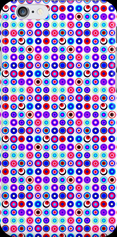 Poke-A-Dots - Purple Negative [iPhone case] by Damienne Bingham