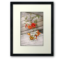 Flower - Trumpet melodies Framed Print