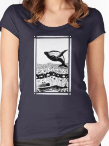 Having a Whale of a Time Women's Fitted Scoop T-Shirt