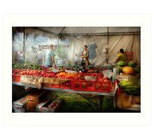 Chef - Vegetable - Jersey Fresh Farmers Market Art Print