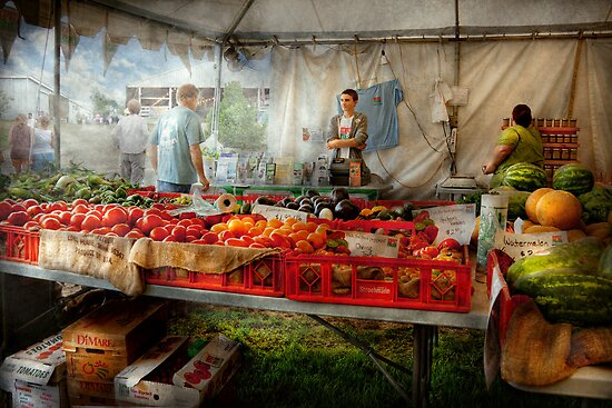 Chef - Vegetable - Jersey Fresh Farmers Market by Mike  Savad