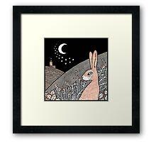 Star Gazing Hare Framed Print