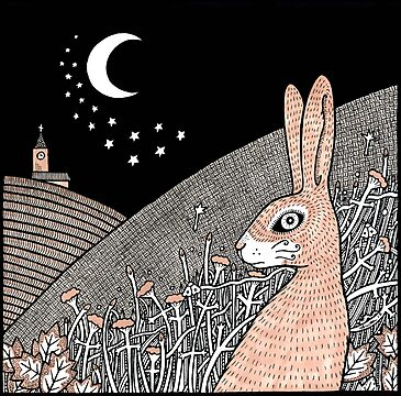 Star Gazing Hare by Anita Inverarity