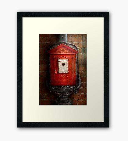 Fireman - The fire box Framed Print