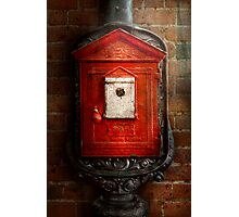 Fireman - The fire box Photographic Print