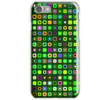 Retro Squares - Green [iPhone case] iPhone Case/Skin
