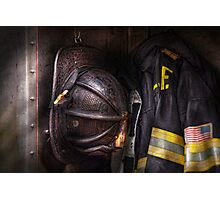 Fireman - Worn and used Photographic Print