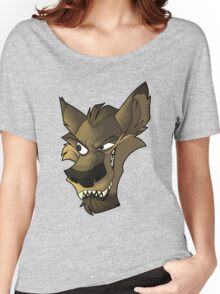 Brown wolf head with shading Women's Relaxed Fit T-Shirt