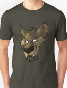 Brown wolf head with shading Unisex T-Shirt