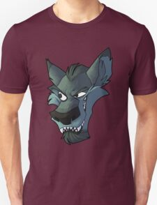 Blue wolf head with shading T-Shirt