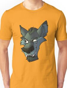 Blue wolf head with shading Unisex T-Shirt