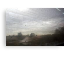 Through A Dirty Train Window, Somewhere In Leicester Canvas Print