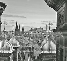 View of the City of Edinburgh by Mark  Johnstone