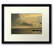 In Coming Framed Print