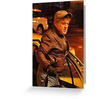 Robert Redford Filming Night Scenes Greeting Card