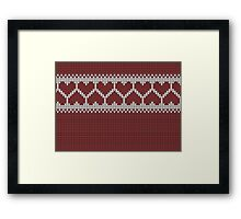 Knitted Fair Isle Hearts Framed Print