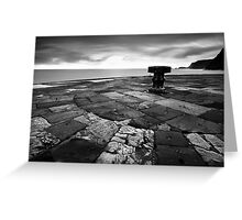 A Capstan in the Morning BW Greeting Card