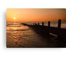 The Golden Sunset Canvas Print