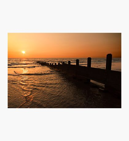The Golden Sunset Photographic Print