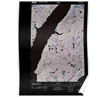 USGS Topo Map Washington State WA Lilliwaup 20110418 TM Inverted Poster