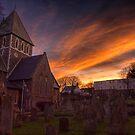 Sunrise over the Church in St.Anne on Alderney by NeilAlderney