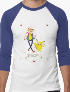 Adventures outside Pallet Town Men's Baseball ¾ T-Shirt