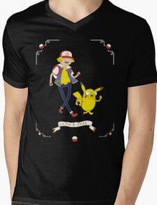 Adventures outside Pallet Town Mens V-Neck T-Shirt