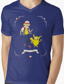 Adventures outside Pallet Town Mens V-Neck T-Shirt
