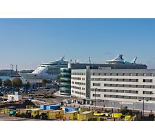 Independence of the Seas in Southampton Photographic Print