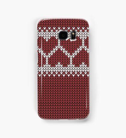 Knitted Fair Isle Hearts Samsung Galaxy Case/Skin