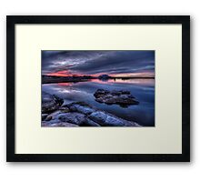 Cold Water Sunset Framed Print
